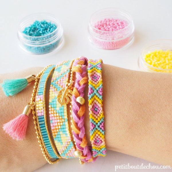 DIY Armband brasilianische multirangs, Flechten und Weben miyuki ...