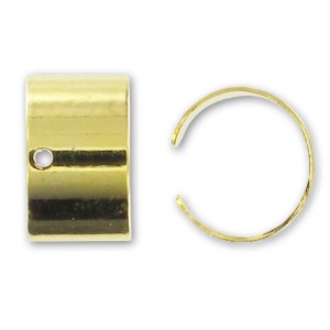 Ohrklemme 10.5x6mm Gold Farbe x10