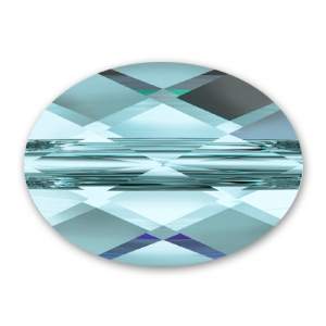 Swarovski Mini Oval 5051 10x8mm Aquamarine x1