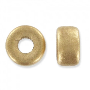 Pony Beads 6 mm Gold Mat x15