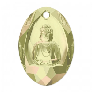 Swarovski Buddha 6871 28x19.8mm Crystal Luminous Green x1