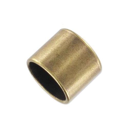Endkappe Rohr für 10 mm Seil bronzefarben - Perles & Co