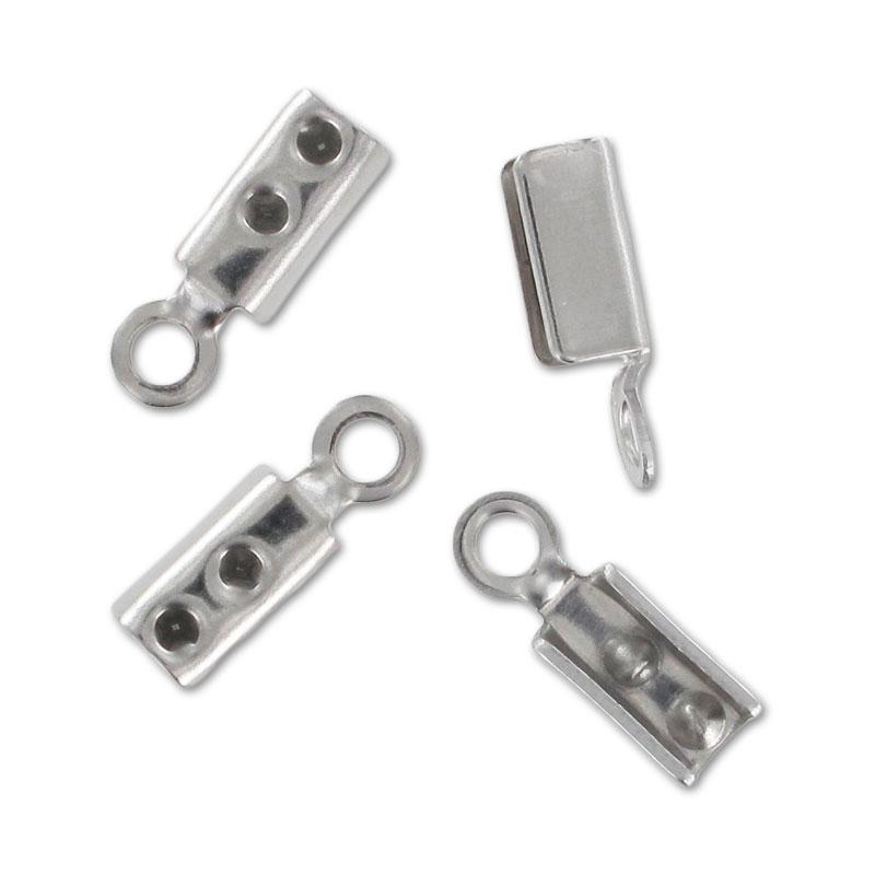 Runde Endkappe Klemme 2.2mm aus Edelstahl x10 - Perles & Co