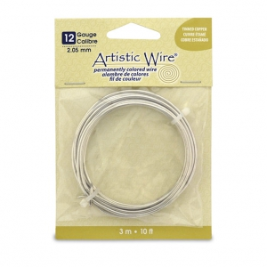 kupferdraht artistic wire zinnfarbe x 3m artistic wire perles co. Black Bedroom Furniture Sets. Home Design Ideas