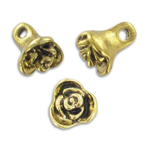rose anh nger 8mm antik goldfarben farbe x5 perles co. Black Bedroom Furniture Sets. Home Design Ideas