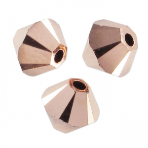 Swarovski Doppelkegel 5mm Crystal Rose Gold 2X x20
