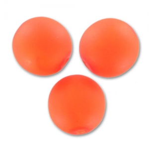 Runde Perle 6mm Neon Orange Mat x25