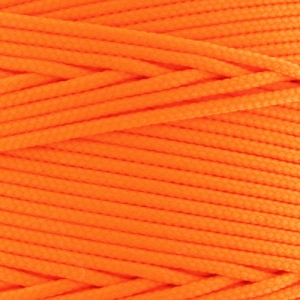 geflochtener Nylonfaden 1.1mm Neon Orange x1m