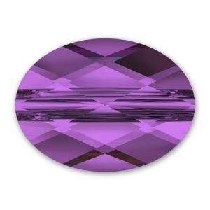 Swarovski Mini Oval 5051 10x8mm Amethyst x1