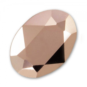 Cabochon Swarovski 4120 Oval 8x6mm Crystal Rose Gold