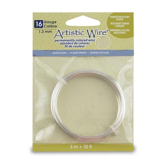 Kupferdraht Artistic Wire 1.3mm Silberplattiert x3m - Artistic Wir ...