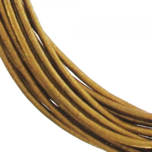 Lederband 0,8mm Bronze Metallisiert x 2.95m
