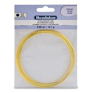 Memory-Draht Halskette 0,6mm 90 mm Gold x15 Umdrehungen - Beadalon ...