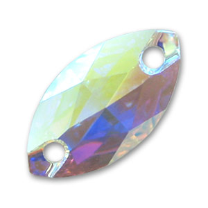 Cabochon 3223 18x9 mm Crystal AB x1