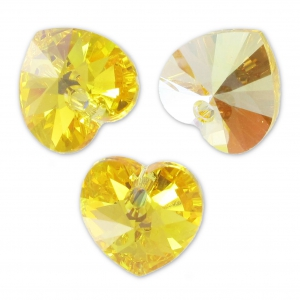 Swarovski 6228 Herz Light Topaz AB 10,3x10mm x6
