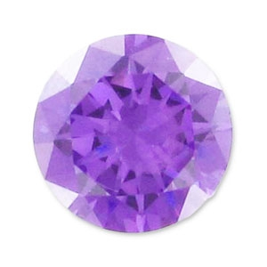 Zirkonium Runde Cabochons 3.25mm Medium Purple x10