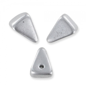 Pyramid Spikes 7x11 mm Silver Mat x6