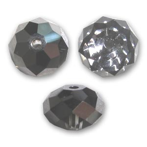 Swarovski 5040 Briolette 8mm Crystal Silver Night x1