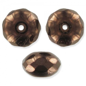 Donuts 9x6mm Dark Bronze x25