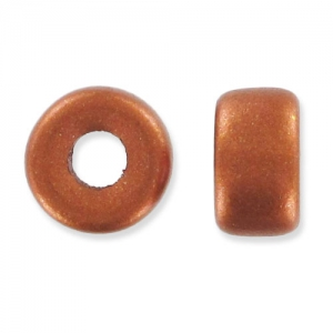 Pony Beads 6 mm Copper Mat x15