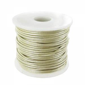 Lederband 0,8mm Gold/Silver Shade metallisiert x 25m