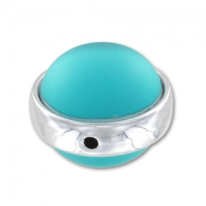 Perle Luna Soft 14 mm Blue Zircon x1