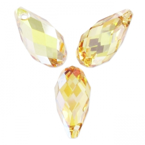 Swarovski Tropfen 6010 11x5.5mm Crystal Metallic Sunshine x4