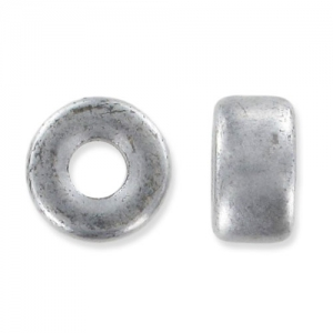 Pony Beads 6 mm Silver Mat x15