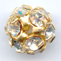 Kugel Strass 8mm Gold-colored Crystal
