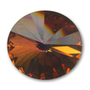 Cabochon Swarovski 1122 Rivoli 8mm Crystal Copper