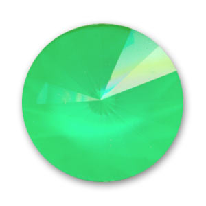 Cabochon Swarovski 1122 Rivoli 14mm Crystal Ultra Lime