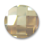 Cabochon Swarovski 2035 Rund 14mm Crystal Golden Shadow