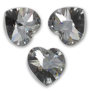 Swarovski 6228 Herz Crystal Silver Night 10,3x10mm x6
