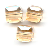 Swarovski 5601 Würfel 8mm Crystal Golden Shadow x1
