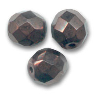 Glasschliffperlen 8mm Dark Bronze x20