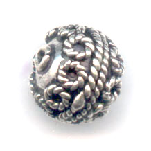925 Sterling Silber Perle 9x10mm x1