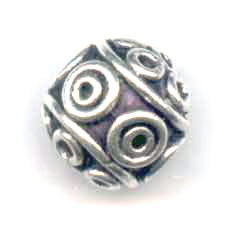925 Sterling Silber runde Perle 10mm x1