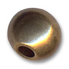kugel aus metall gold bronze farbe 17x13mm perles co. Black Bedroom Furniture Sets. Home Design Ideas