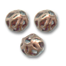 Filigran Kugeln 4mm Old copper tone x20