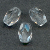 Facettierte Oliven 9x6mm Crystal x25