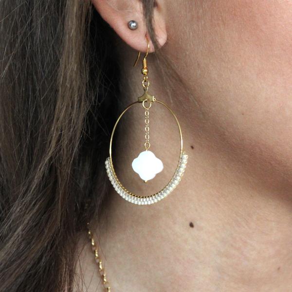 Ohrringe Weben Ziegel Stich und Perlen Miyuki - Perles & Co