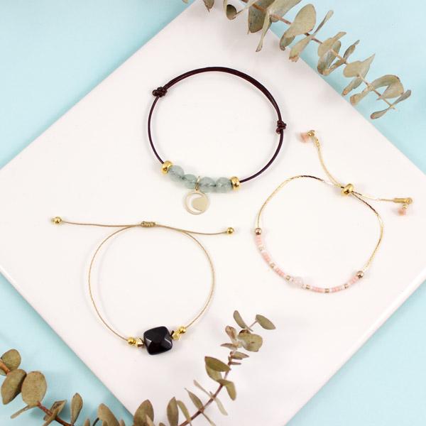 einstellbare Schiebe Knoten Armbänder und gems Miyuki - Perles & Co
