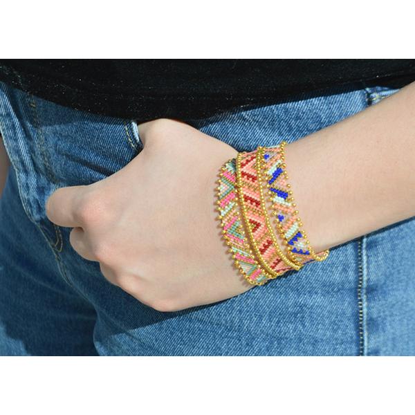 Peyote Armband Weben Perlen zusammen Miyuki Delicas - Perles & Co