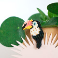 Toucan Brosche in brickstitch von My Little Bazaar