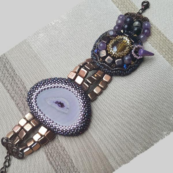 Armband gespickt scheibe achatperlen und fliesen perles co - Swarovski fliesen ...