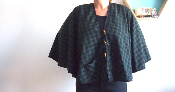 Einfacher Mantel zum Nähen aus kariertem Schottenstoff - Perles & Co