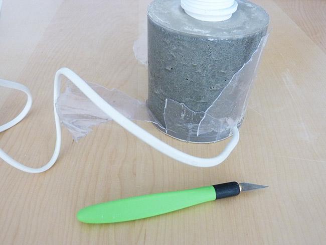 DIY kreative Beton Lampe - Perles & Co