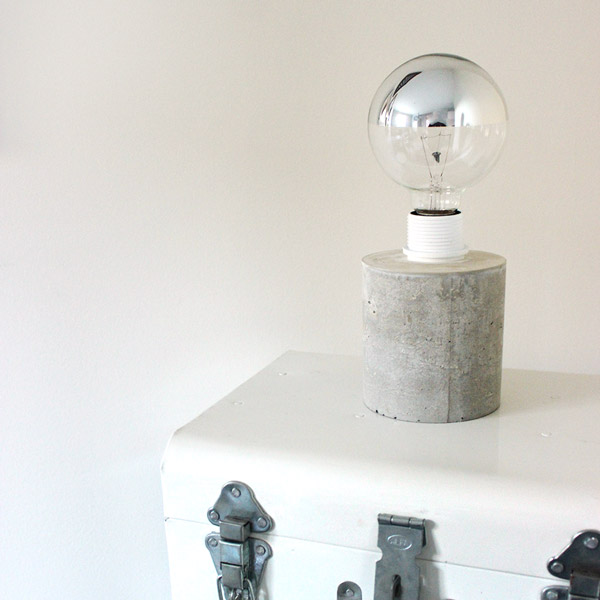 Diy Kreative Beton Lampe Perles Co