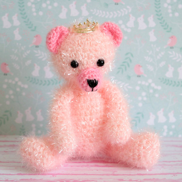Amigurumi rosa Teddy König gehäkelt und Baumwolle kreative Blase ...