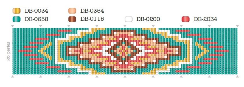 Armband gewebt Muster Navajo - Perles & Co